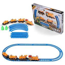 Vangoddy Toy Car Battery Operated Railway Train Track Play S