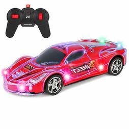 BCP Kids 27Mhz Remote Control Racing Car RC Toy w/ Flashing