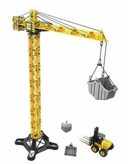 Toy State CAT Apprentice Tower Crane With Fork Lift Construc