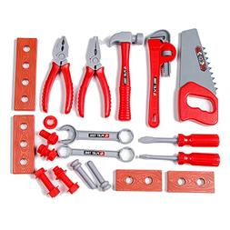 KIDAMI Kids Toys Tool Set, Educational Pretend Play Toys, Co
