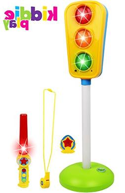 Kiddie Play Traffic Light Toy for Kids Cars and Bikes with R