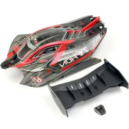 Arrma TYPHON 6s BLX Red Body Shell & Wing AR106046