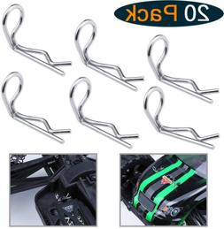20-Pack Universal RC 90-Degree Angle Body Clips For 1/10 Sca