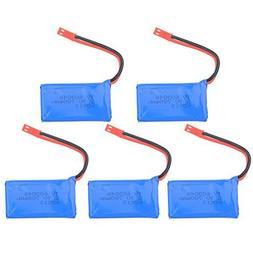 Kingtoys 5 PCS Upgrade 3.7v 780mah Rechargeable Lipo Battery