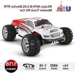 US WLtoys A979-B 2.4G 1/18 Scale 4WD 70KM/H Electric RTR Tru
