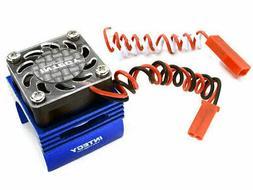 Integy VXL Brushless Motor Blue Heatsink/Fan Traxxas 1/16 E-