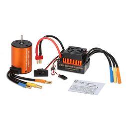 Waterproof 3650 4370KV  Brushless Motor And 60A ESC For 1/10