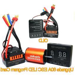B3650 4300KV Brushless Motor+60A ESC + Program Card Combo Fo