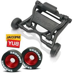 Traxxas Wheelie Bar  / Red Alum Wheels & Rubber Tires : E-Ma