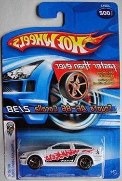 HOT WHEELS 2006 FIRST EDITIONS WHITE TOYOTA AE-86 COROLLA 2/