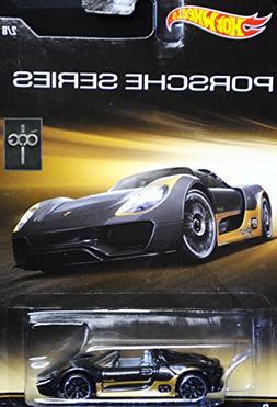 HOT WHEELS PORSCHE SERIES BLACK/GOLD PORSCHE 918 SPYDER 2/8