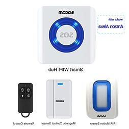Wifi Security System Wireless,Alarm Kits Works with Amazon A