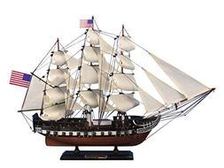 Hampton Nautical Wooden USS Constitution Tall Model Ship, 24