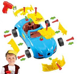 King Of Toys Take a Part Car World Racing Kids with 30 Apart
