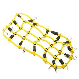 Yellow 1/10 RC Elastic 18x9cm Luggage Net with Hook for RC V